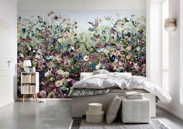 Спальня с фотообоями цветов фото