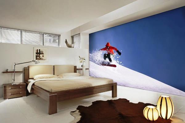 фотообои в спальню в интерьере фото 7