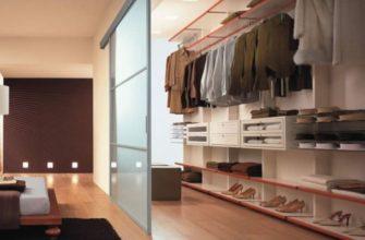 гардеробная комната планировка с размерами